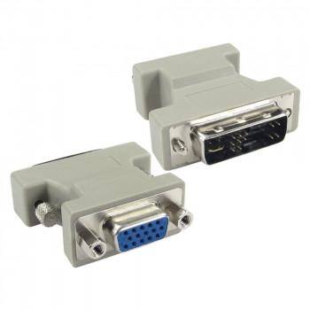 переходник DVI-A (Female) -VGA (Male) серый