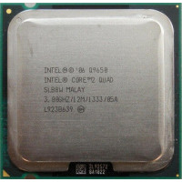 б/у процессор сокет 775 Intel Core2Quad Q9650 3,0/12/1333 SLB8W